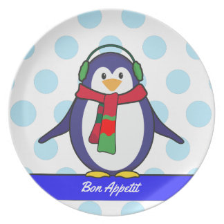 Cute Penguin Christmas with your name Plate