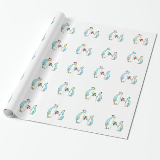 Cute Penguin Christmas Wrapping Paper