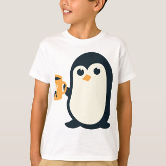 Cute Penguin Coffee Penguin Cute Animals Adorable T-Shirt
