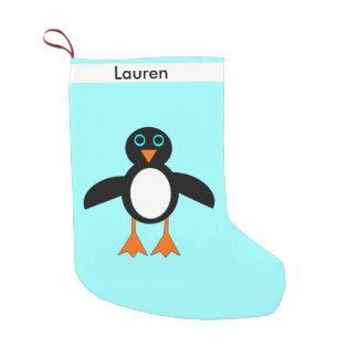 Cute Penguin Custom Stocking Small Christmas Stocking