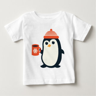 cute penguin cute animal winter hat adorable gift baby T-Shirt