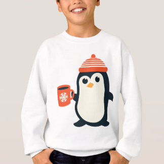 cute penguin cute animal winter hat adorable gift sweatshirt