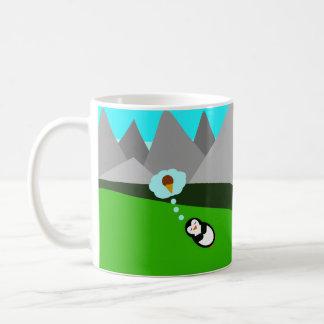 Cute Penguin Dreaming of Ice Cream Coffee Mug