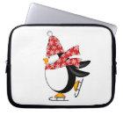 Cute Penguin Ice Skates Electronics Bag