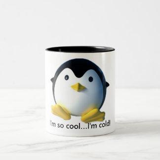"""cute penguin """"i'm so cool..."""" mug"""