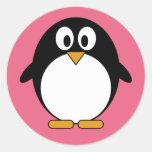 Cute Penguin Kawaii Cartoon Round Sticker