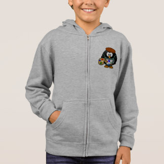 Cute Penguin on Painting Hoodies/ Sweatshirt