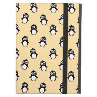 Cute penguin pattern - golden yellow iPad cases