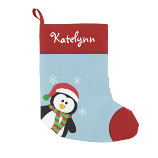 Cute Penguin Personalized Christmas Stocking