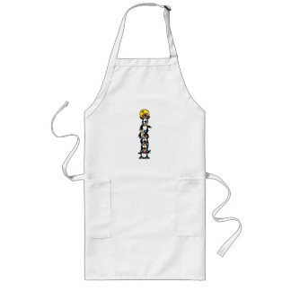 cute penguin totem stack long apron