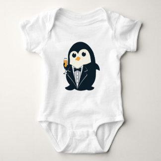 cute penguin tuxedo animal adorable baby bodysuit