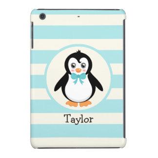 Cute Penguin with Turquoise Bowtie iPad Mini Retina Case