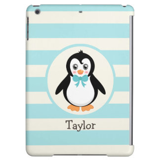 Cute Penguin with Turquoise Bowtie Case For iPad Air