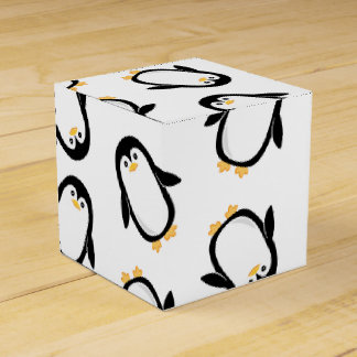 Cute Penguins Pattern Favour Box