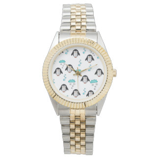 cute penguins wrist watch