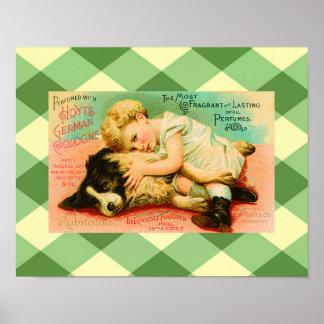 Cute Perfume Vintage Advertisement Poster