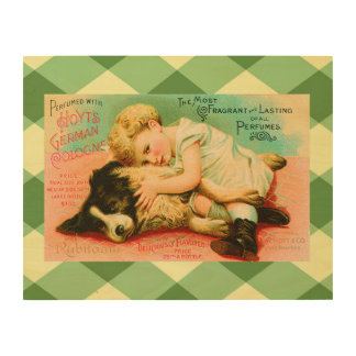 Cute Perfume Vintage Advertisement Wood Wall Art