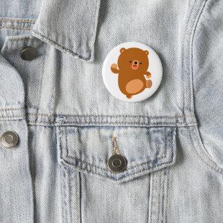 Cute Perky Cartoon Bear 6 Cm Round Badge