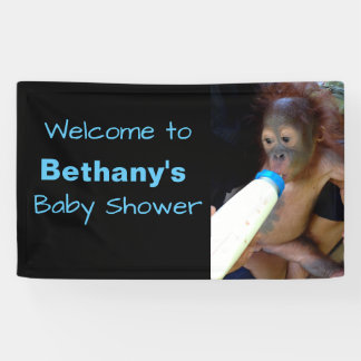 Cute Personalised Baby Shower welcome Banner