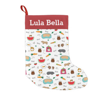 Cute Personalised Guinea Pigs Small Christmas Stocking