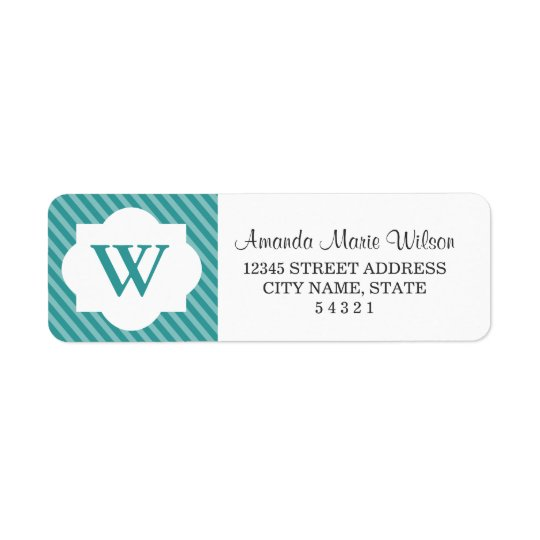 Cute Personalised Monogram Return Address Labels