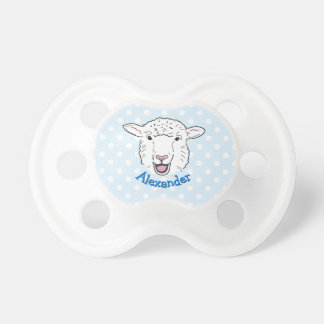 Cute Personalised Smiling Sheep Face Illustration Dummy