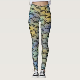 Cute Personalised Your Name All Over Pattern Leggings