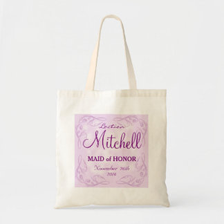 Cute personalized abstract maid of honor wedding tote bag