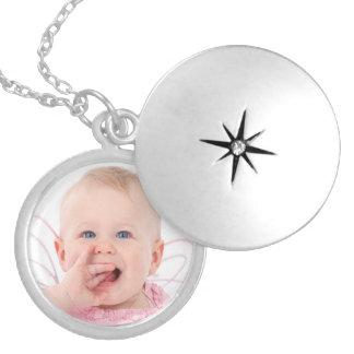 Cute personalized baby photo locket necklace