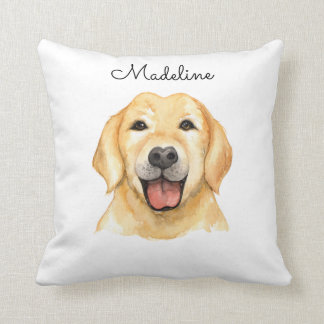 Cute Personalized Brown Dog Pillow