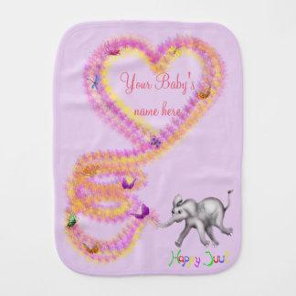 Cute Personalized Burp Cloth - Fanti