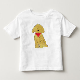 Cute Personalized Cartoon Goldendoodle Puppy Toddler T-Shirt