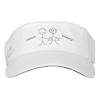 Cute Personalized Couple Stick Figure Visor