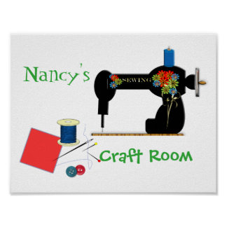 Cute Personalized Craft Room Sign