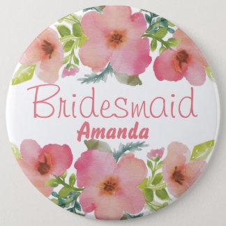 Cute personalized flourish team bride 6 cm round badge