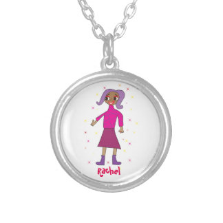 Cute Personalized Gift For Little Girls Round Pendant Necklace