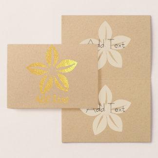 Cute Personalized Jasmin Flower Card