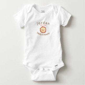 Cute Personalized Lion Baby Gerber Cotton Bodysuit