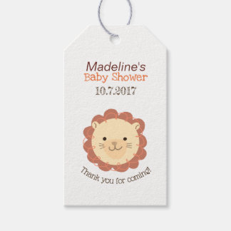 Cute Personalized Little Lion Thank You Gift Tag