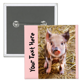 Cute Personalized Little Pig Button Button