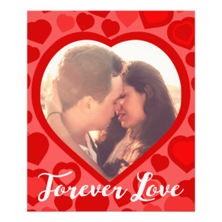 Cute personalized red heart photo art
