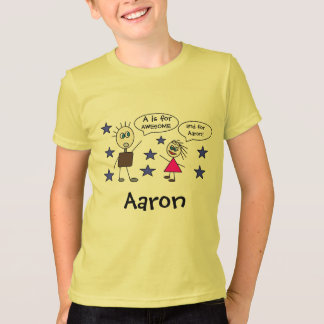 Cute Personalized T-Shirt for Boy's Name Letter A