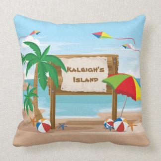 Cute Personalized Tropical Beach Balls Umbrella Cushion