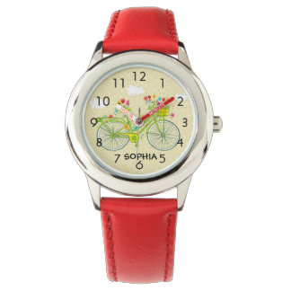 Cute Personalized Vintage Bicycle Child's Watch
