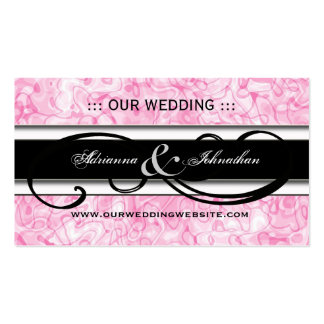 Cute Personalized Wedding Website Cards Business Cards