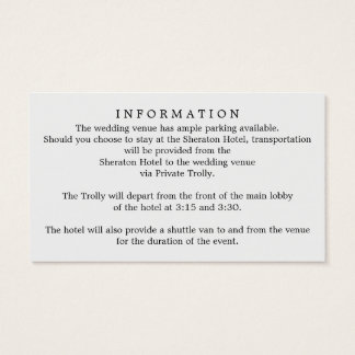 Cute Personalized Wedding Website/Information Card