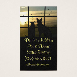 Cute Pet and House Sitting Business Cards