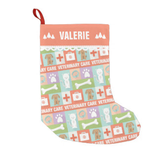 Cute Pet Care Veterinarian Small Christmas Stocking