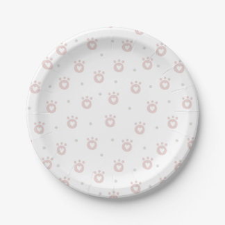 Cute Pet Paws with Hearts | Kids Paper Plates