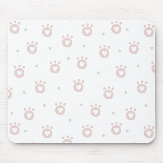 Cute Pet Paws with Hearts | Mousepad
